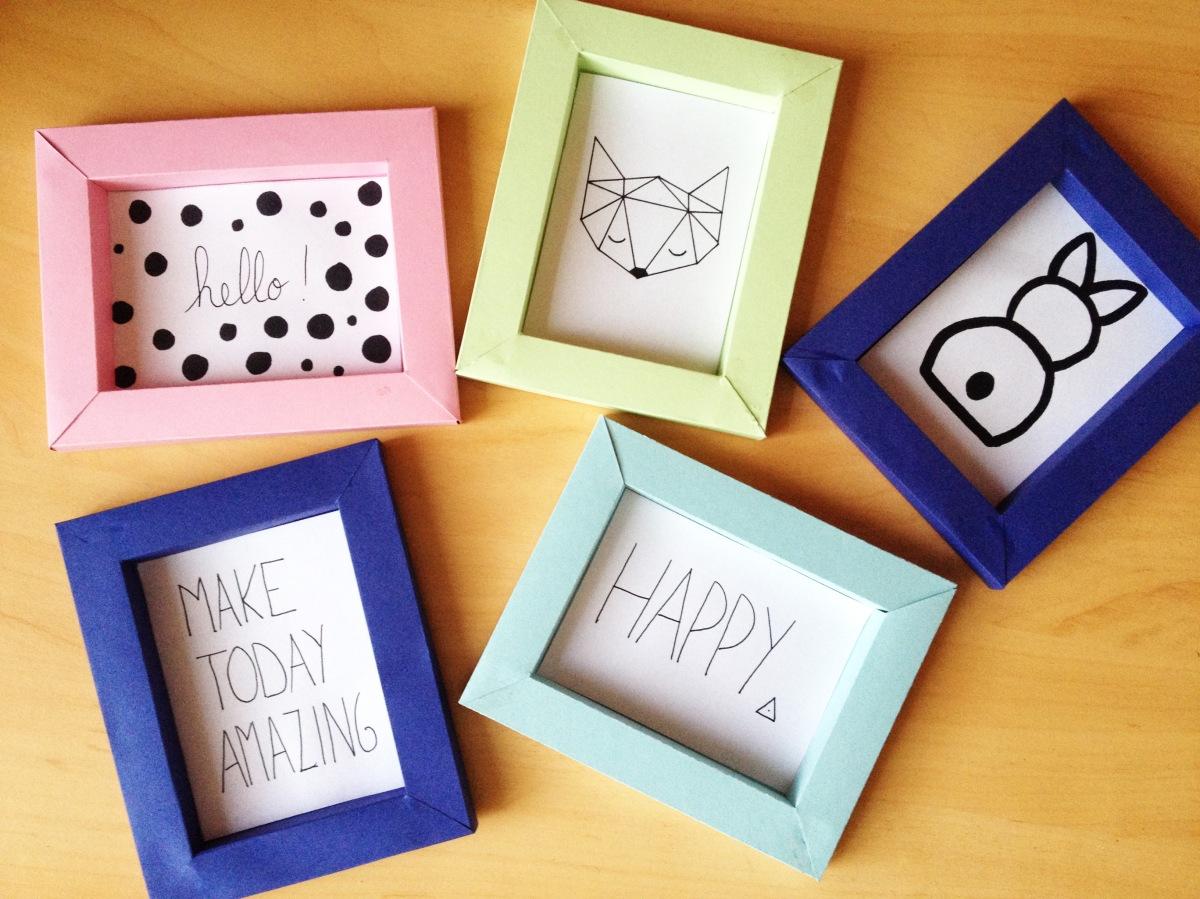 DIY & Cadre en papier