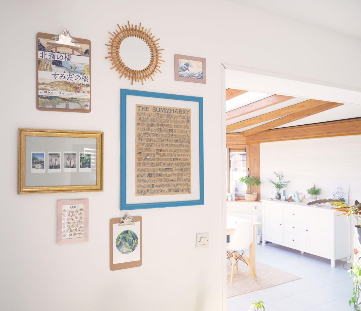 DIY & Mur de cadres (sans percer)
